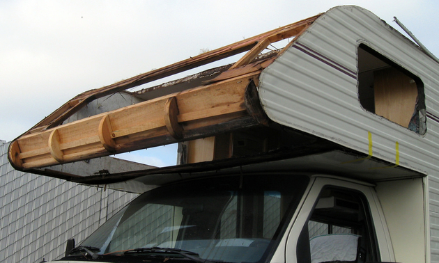 water damage in an RV