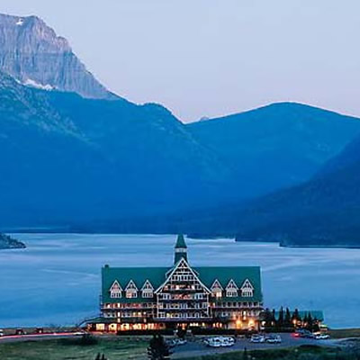 The Prince of Wales Hotel at Waterton Lakes Provincial Park.