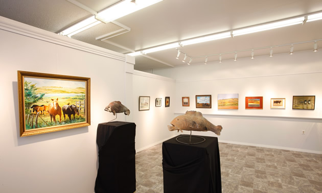 The Gallery on 3rd features local artists and artists from around the province.