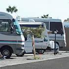 Motorhomes parked at Westwind resort