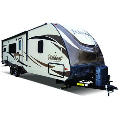 Picture of Wildcat Travel Trailer.