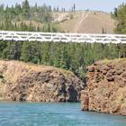 Suspension bridge over Yukon River