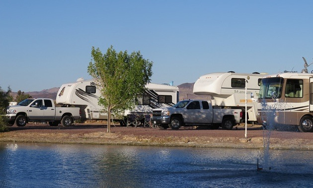 The Wilson's 2008 Prowler parked at  Route 66 RV park.