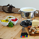 fondue ingredients laid out ready for RV campers