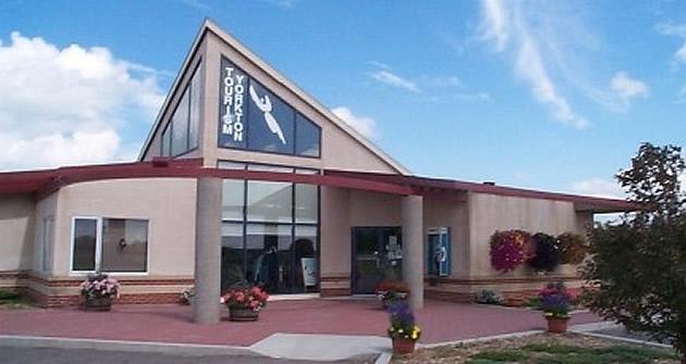 tourist information building for Yorkton, Saskatchewan