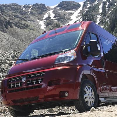 Zion Roadtrek vehicle in Montana.